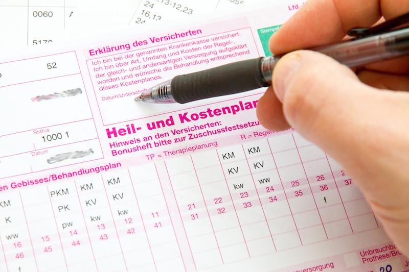 Der Heil- und Kostenplan / HKP beim Zahnarzt